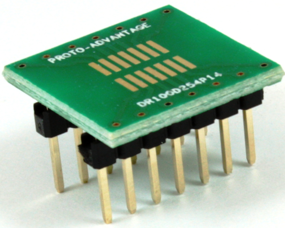 Dual Row 1.00mm Pitch 14-Pin to DIP-14 Adapter 0