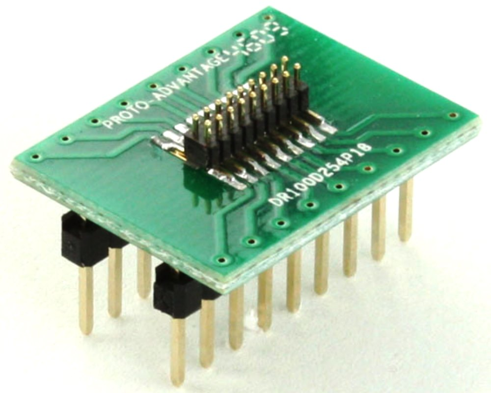 Dual Row 1.00mm Pitch 18-Pin Male Header to DIP-18 Adapter 0