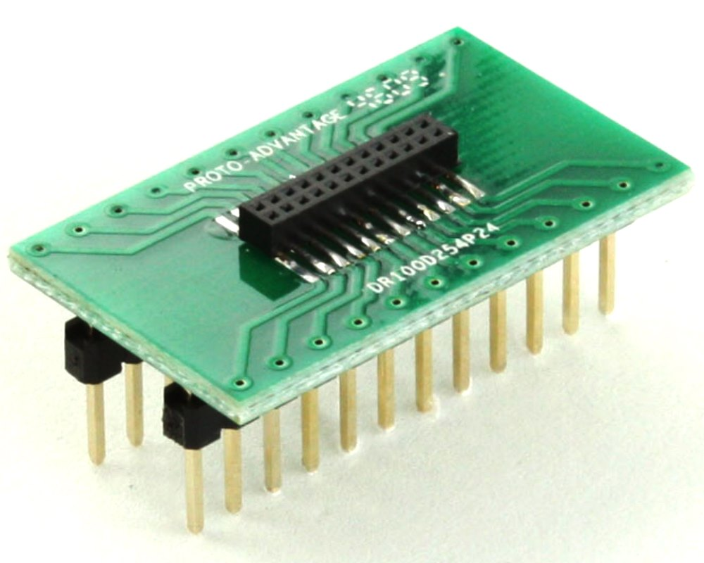 Dual Row 1.00mm Pitch 24-Pin Female Header to DIP-24 Adapter 0