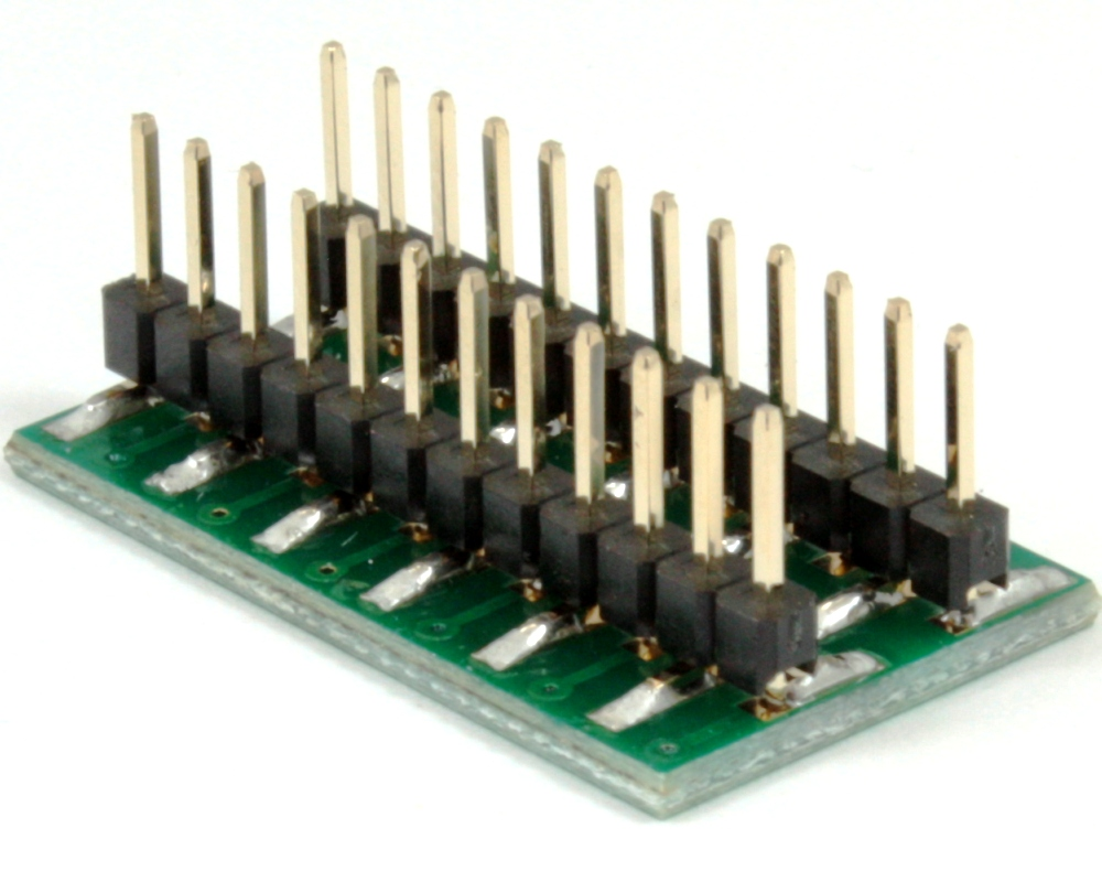 Dual Row 1.00mm Pitch 24-Pin to DIP-24 Adapter 1