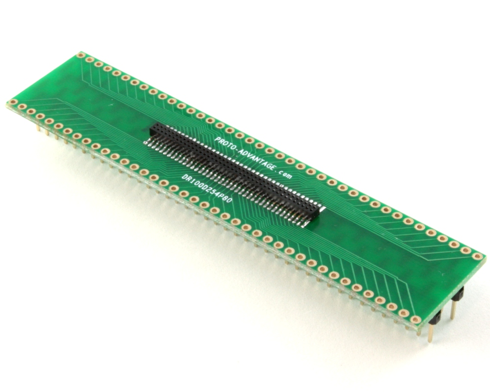 Dual Row 1.00mm Pitch 80-Pin Female Header to DIP-80 Adapter 0
