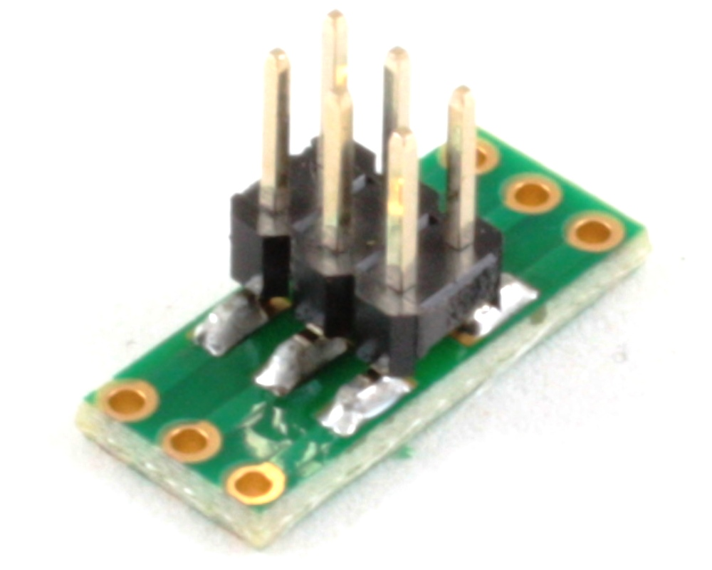 Dual Row 1.00mm Pitch  6-Pin to Dual Row 2.54mm Pitch Adapter 1