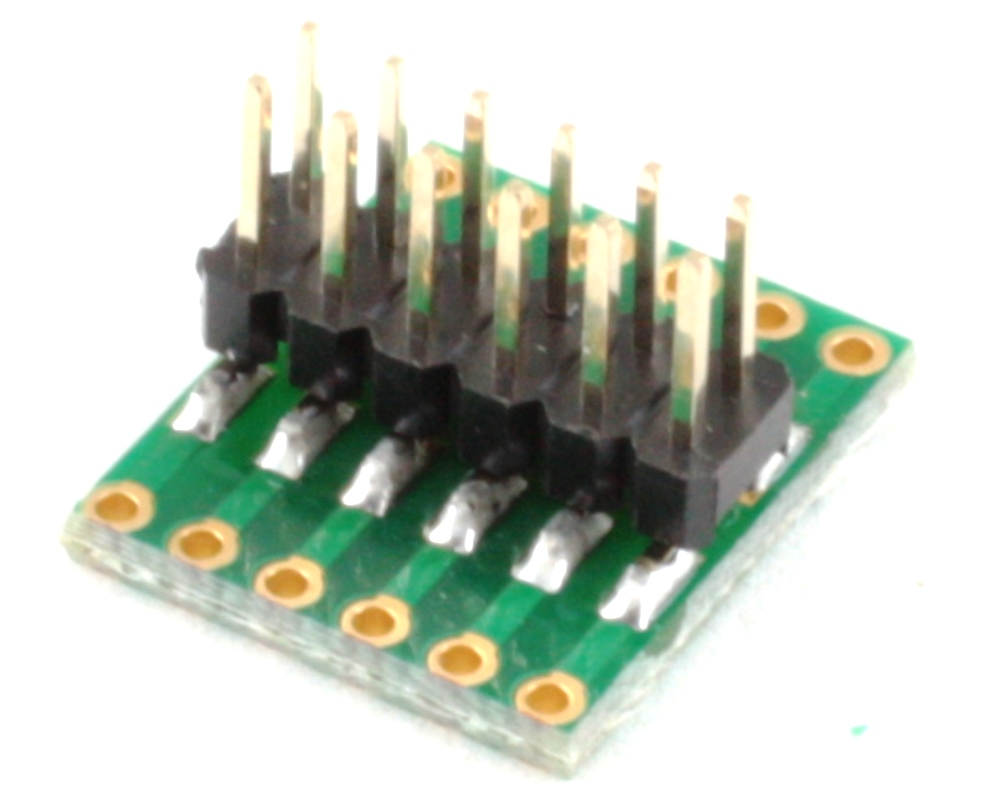 Dual Row 1.00mm Pitch 12-Pin to Dual Row 2.54mm Pitch Adapter 1