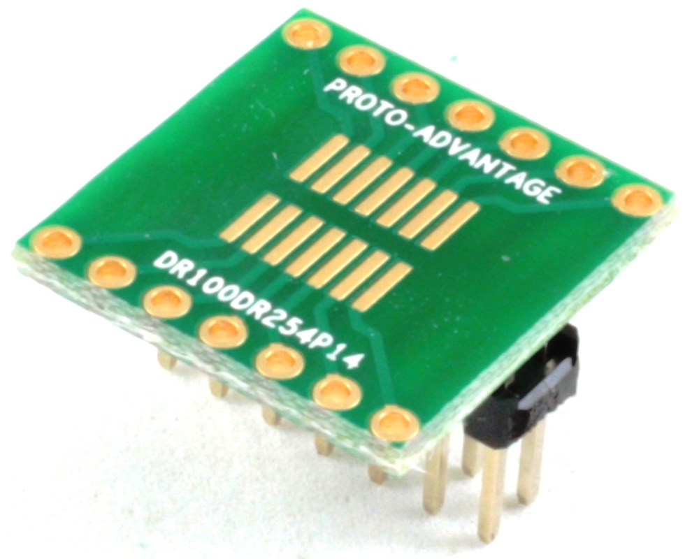 Dual Row 1.00mm Pitch 14-Pin to Dual Row 2.54mm Pitch Adapter 0