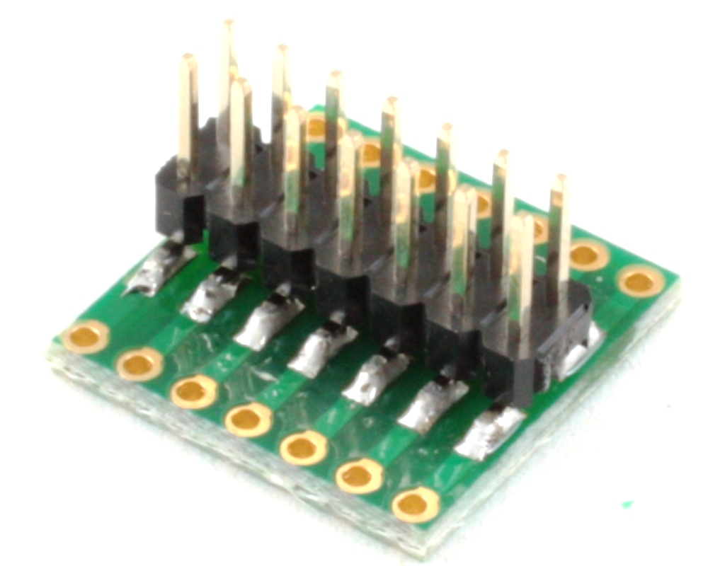 Dual Row 1.00mm Pitch 14-Pin to Dual Row 2.54mm Pitch Adapter 1
