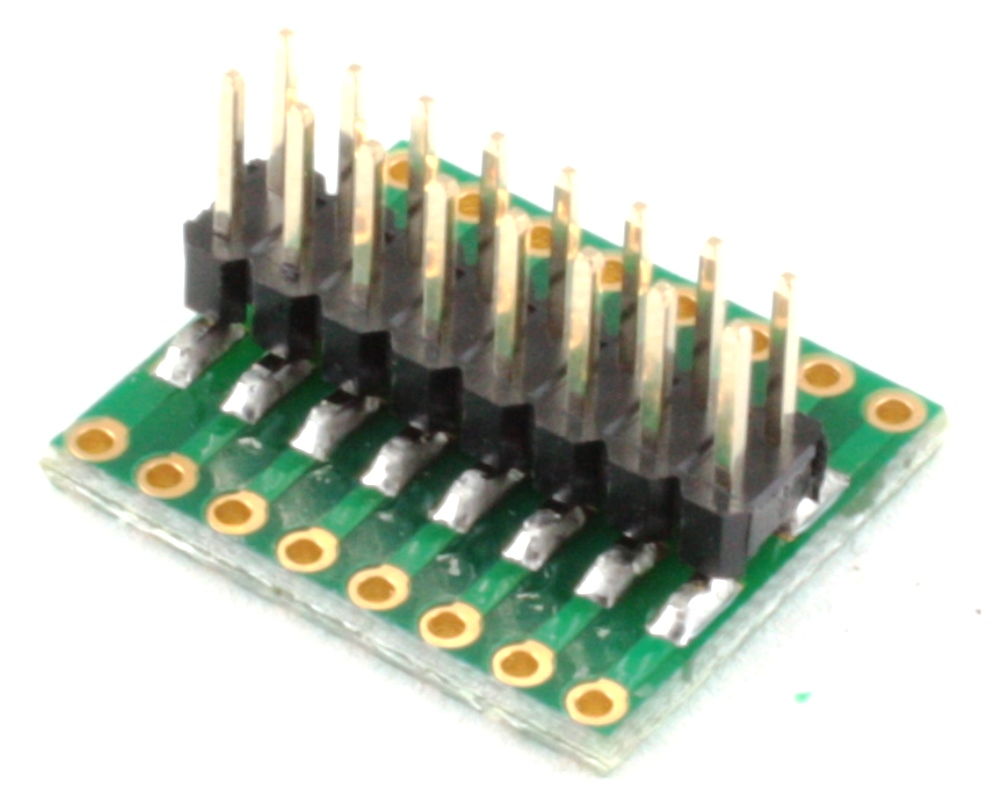 Dual Row 1.00mm Pitch 16-Pin to Dual Row 2.54mm Pitch Adapter 1