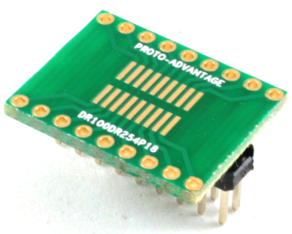 Dual Row 1.00mm Pitch 18-Pin to Dual Row 2.54mm Pitch Adapter 0