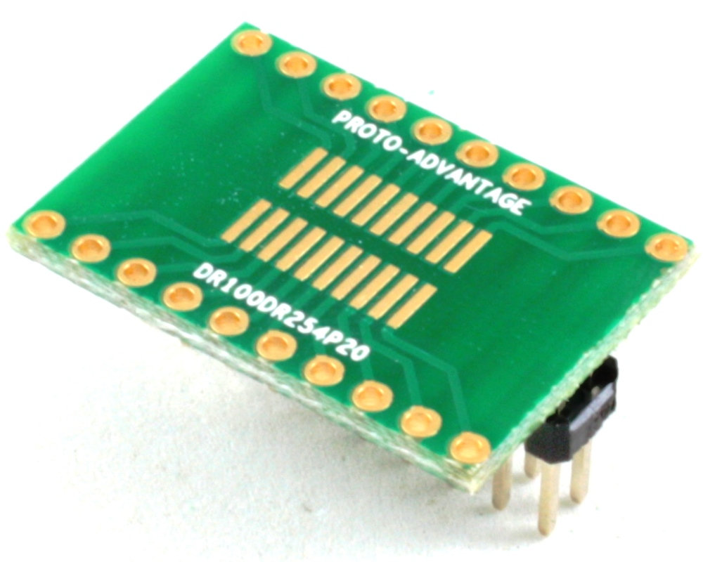 Dual Row 1.00mm Pitch 20-Pin to Dual Row 2.54mm Pitch Adapter 0