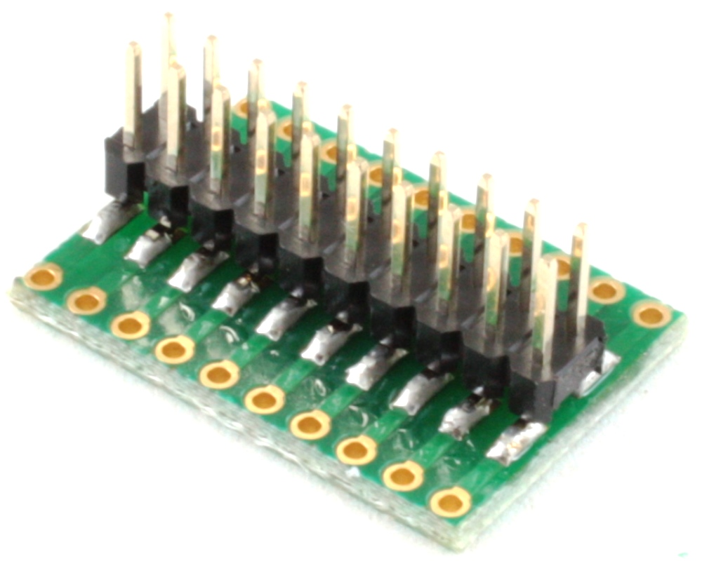 Dual Row 1.00mm Pitch 20-Pin to Dual Row 2.54mm Pitch Adapter 1