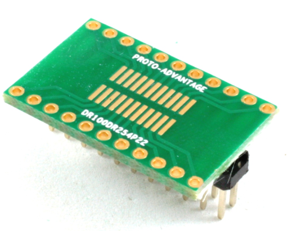 Dual Row 1.00mm Pitch 22-Pin to Dual Row 2.54mm Pitch Adapter 0