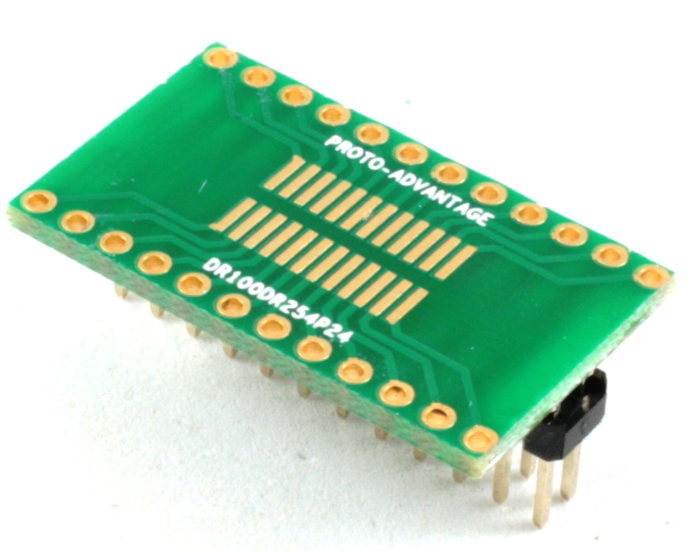 Dual Row 1.00mm Pitch 24-Pin to Dual Row 2.54mm Pitch Adapter 0