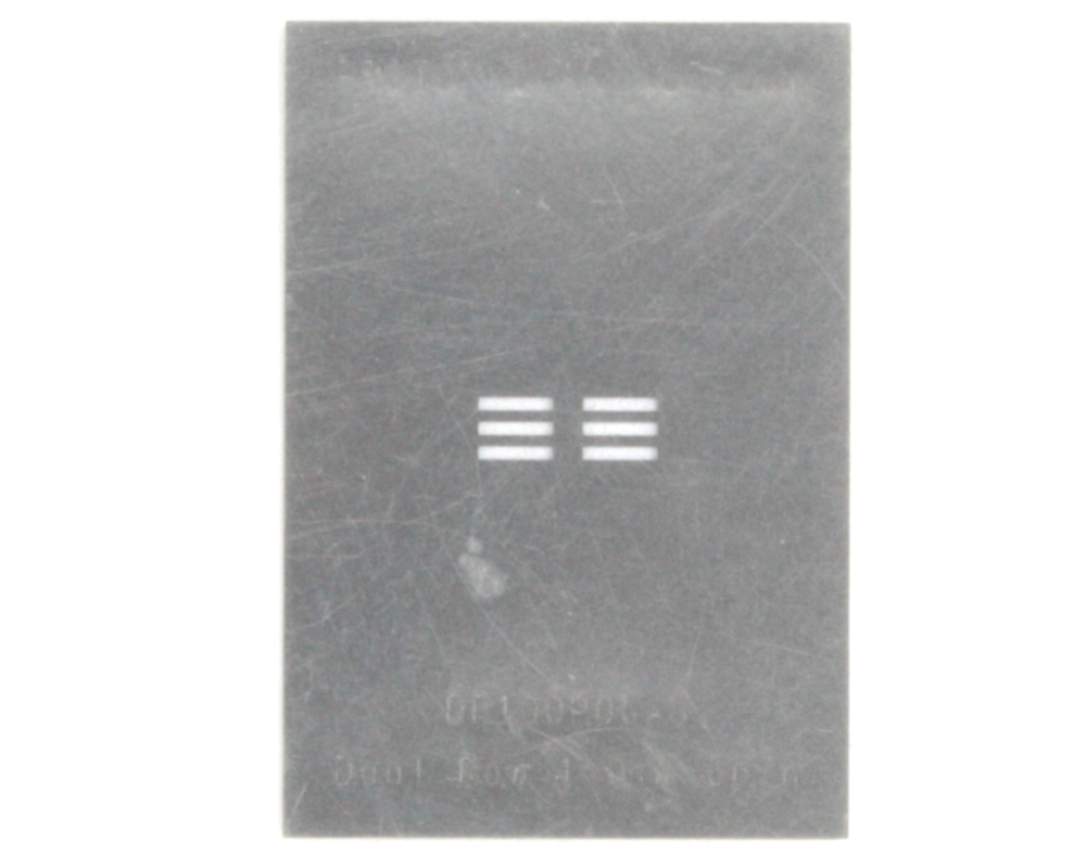 Dual Row 1mm Pitch 6-Pin Connector Stencil 0