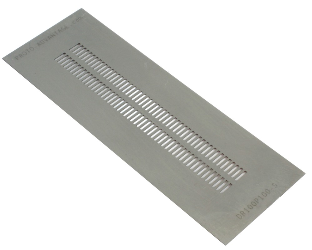 Dual Row 1mm Pitch 100-Pin Connector Stencil 0
