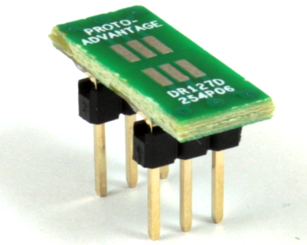 Dual Row 1.27mm Pitch  6-Pin to DIP-6 Adapter 0
