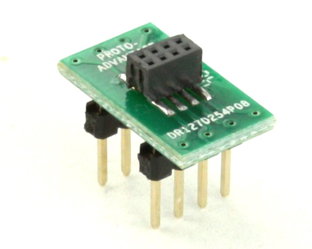 Dual Row 1.27mm Pitch  8-Pin Female Header to DIP-8 Adapter 0