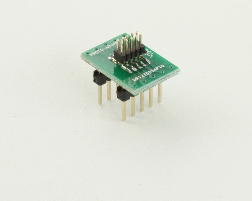 Dual Row 1.27mm Pitch 10-Pin Male Header to DIP-10 Adapter 0