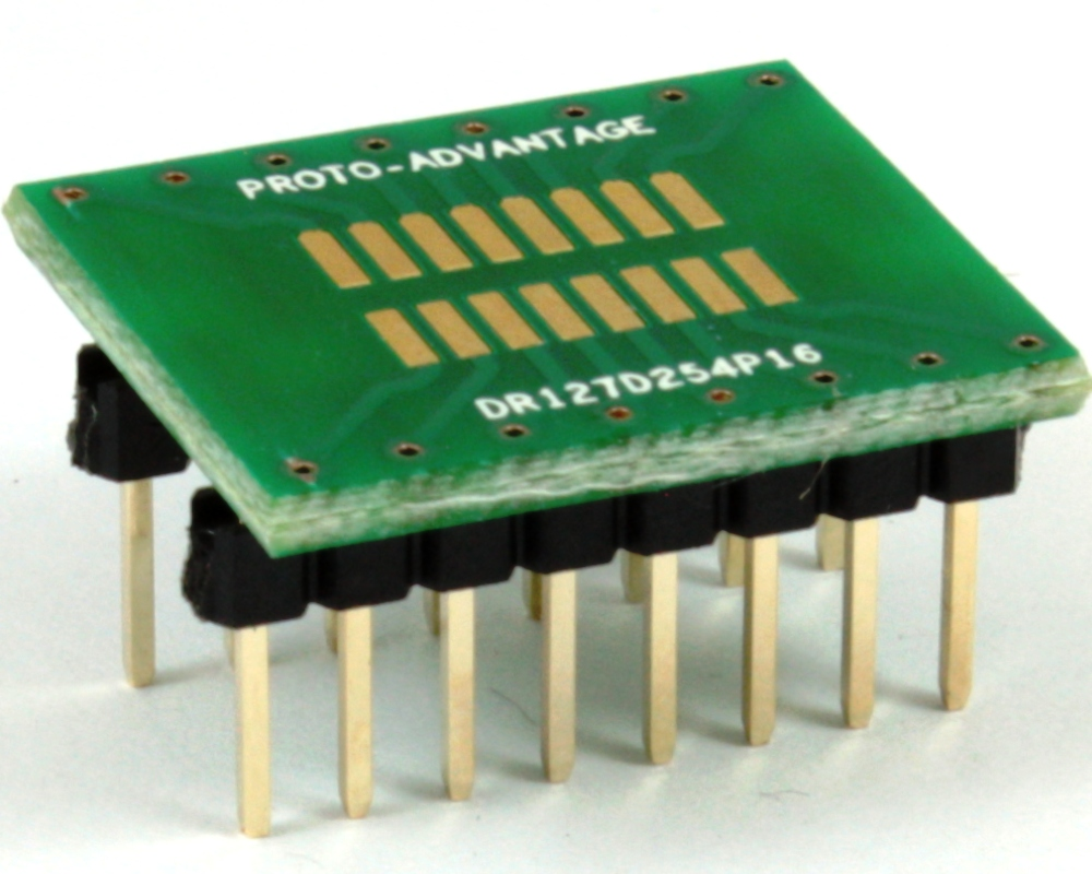 Dual Row 1.27mm Pitch 16-Pin to DIP-16 Adapter 0