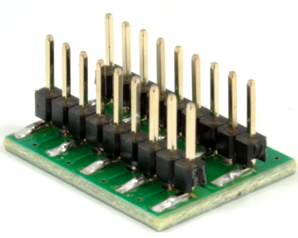 Dual Row 1.27mm Pitch 18-Pin to DIP-18 Adapter 1