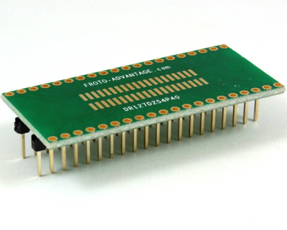 Dual Row 1.27mm Pitch 40-Pin to DIP-40 Adapter 0