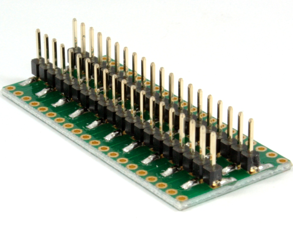 Dual Row 1.27mm Pitch 40-Pin to DIP-40 Adapter 1