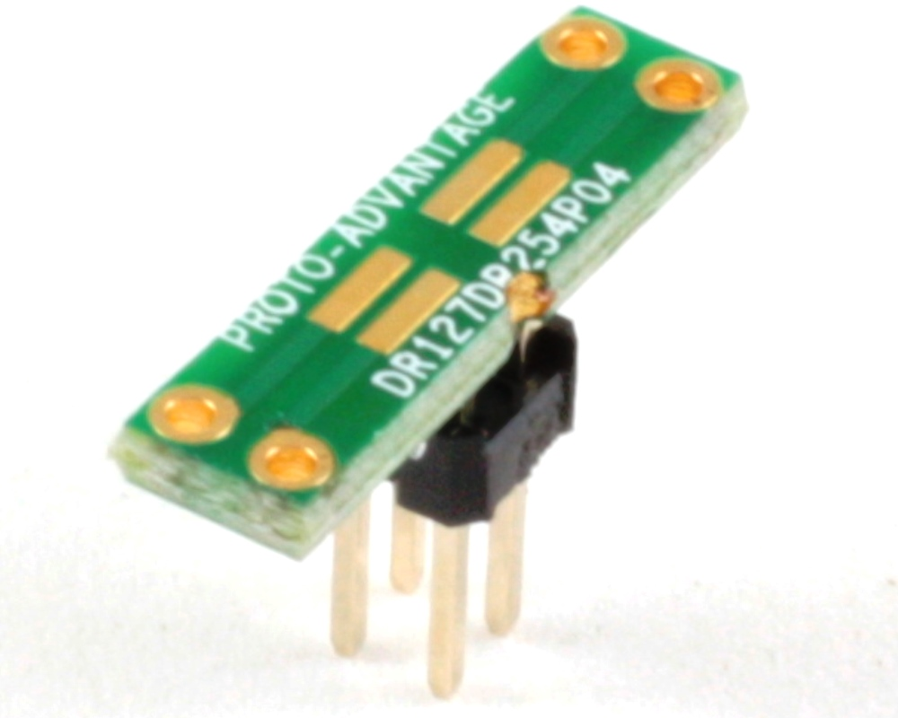 Dual Row 1.27mm Pitch  4-Pin to Dual Row 2.54mm Pitch Adapter 0