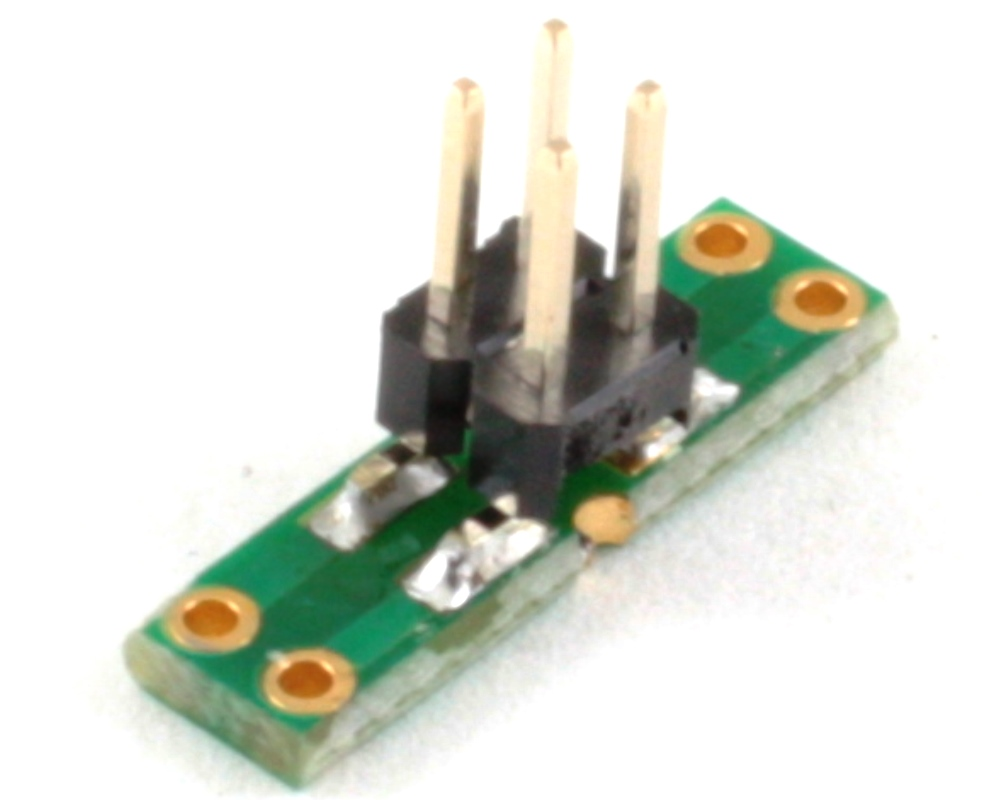 Dual Row 1.27mm Pitch  4-Pin to Dual Row 2.54mm Pitch Adapter 1