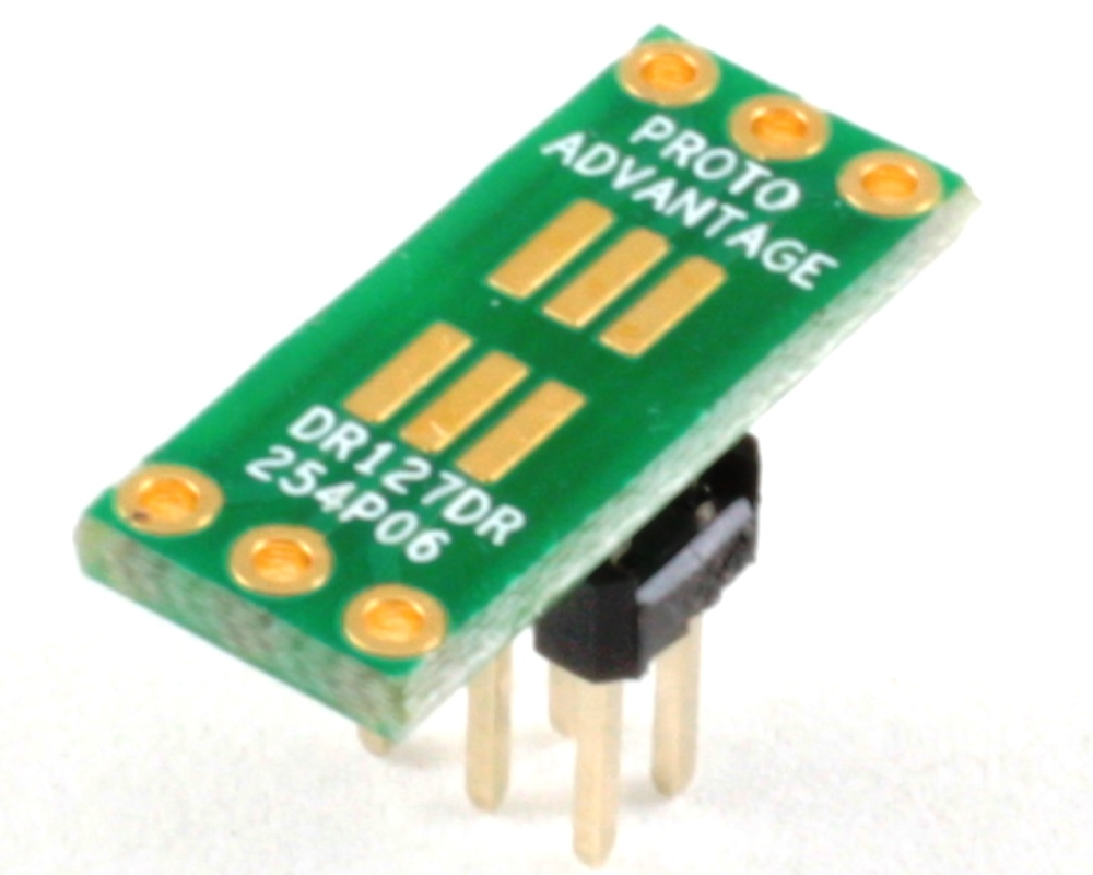 Dual Row 1.27mm Pitch  6-Pin to Dual Row 2.54mm Pitch Adapter 0