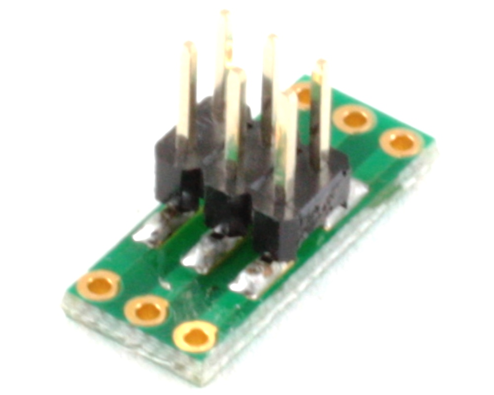 Dual Row 1.27mm Pitch  6-Pin to Dual Row 2.54mm Pitch Adapter 1