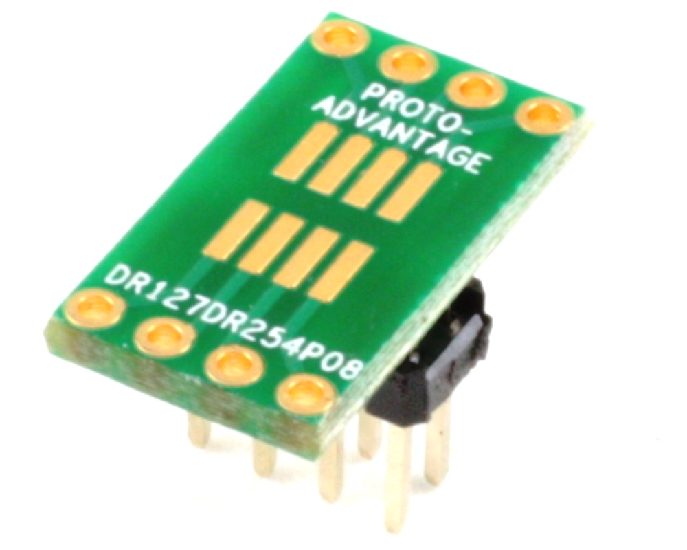 Dual Row 1.27mm Pitch  8-Pin to Dual Row 2.54mm Pitch Adapter 0