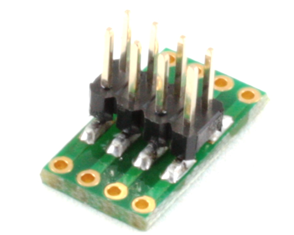 Dual Row 1.27mm Pitch  8-Pin to Dual Row 2.54mm Pitch Adapter 1