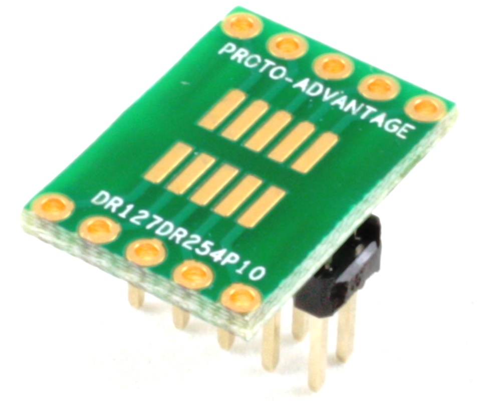 Dual Row 1.27mm Pitch 10-Pin to Dual Row 2.54mm Pitch Adapter 0