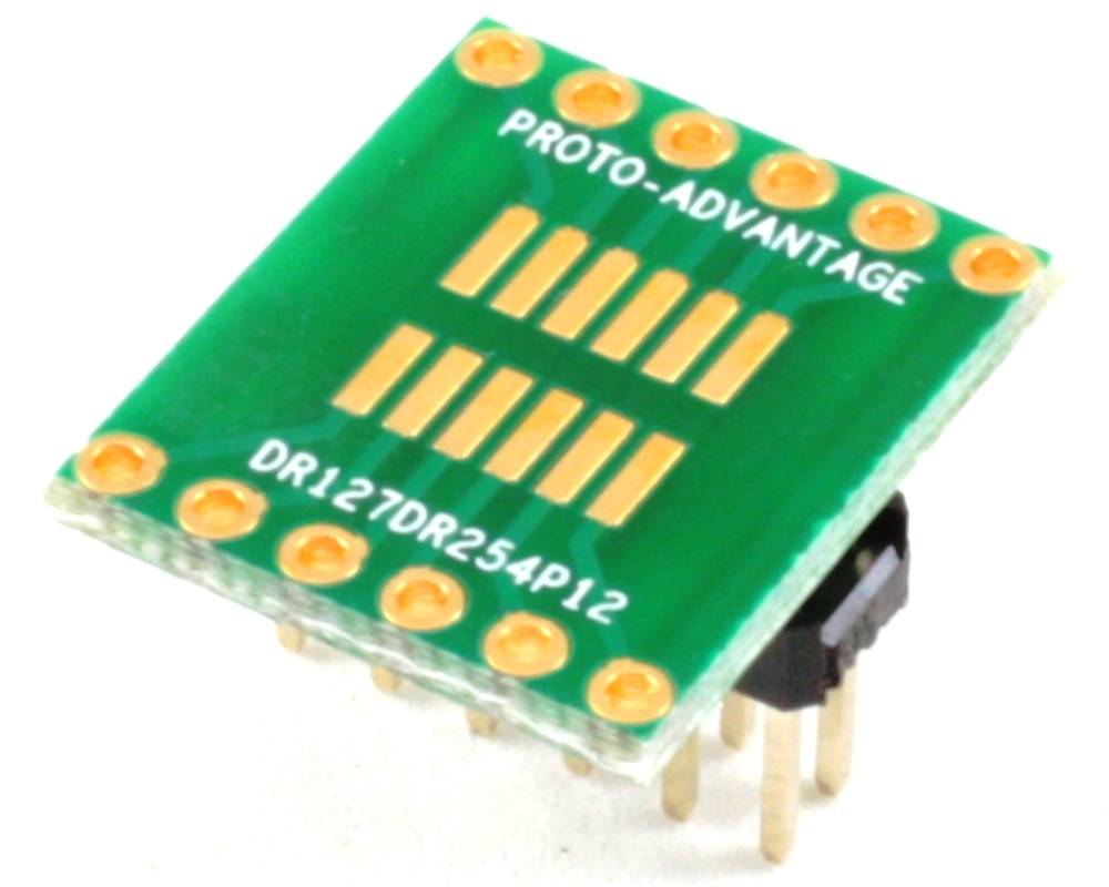 Dual Row 1.27mm Pitch 12-Pin to Dual Row 2.54mm Pitch Adapter 0