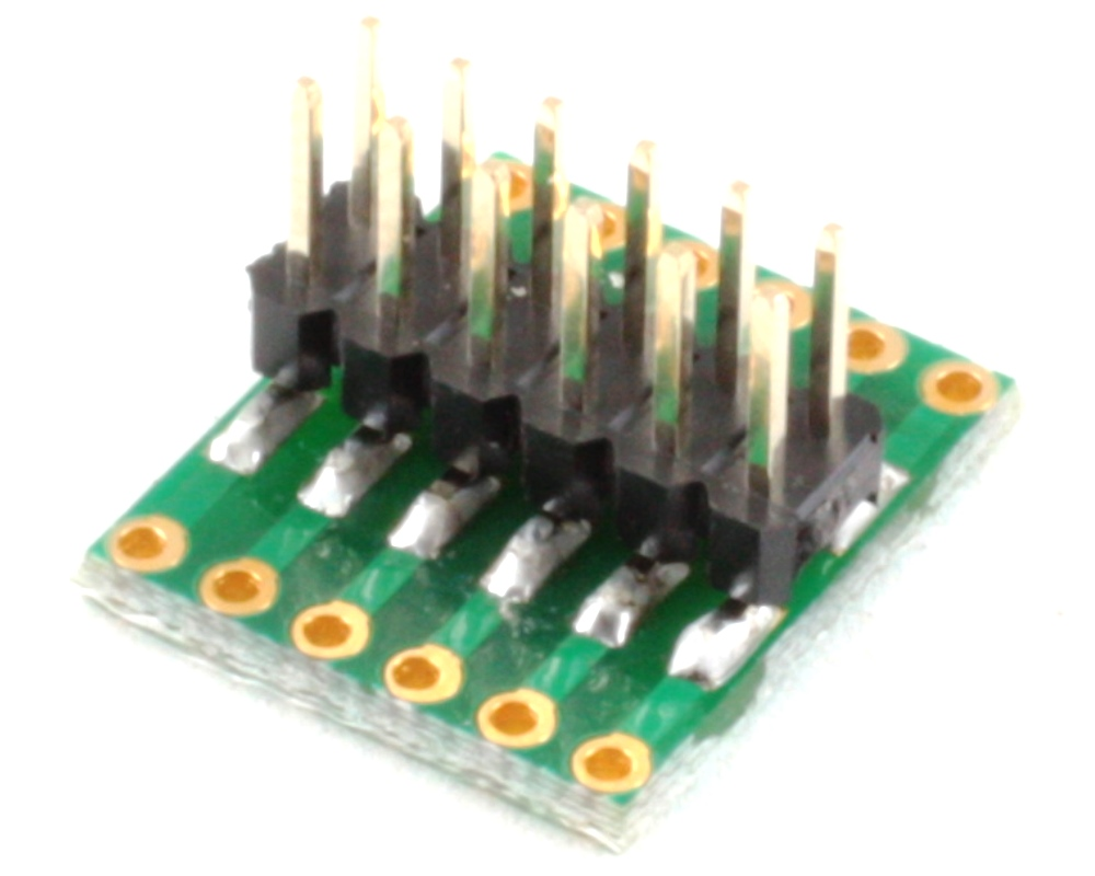 Dual Row 1.27mm Pitch 12-Pin to Dual Row 2.54mm Pitch Adapter 1