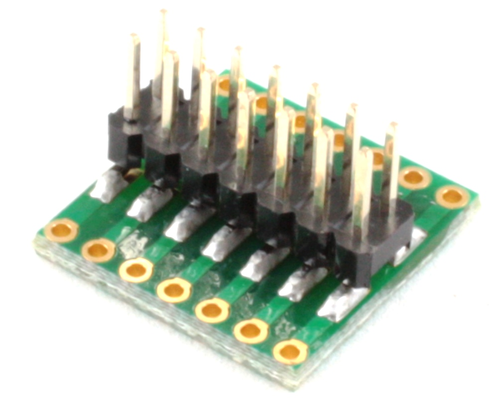 Dual Row 1.27mm Pitch 14-Pin to Dual Row 2.54mm Pitch Adapter 1