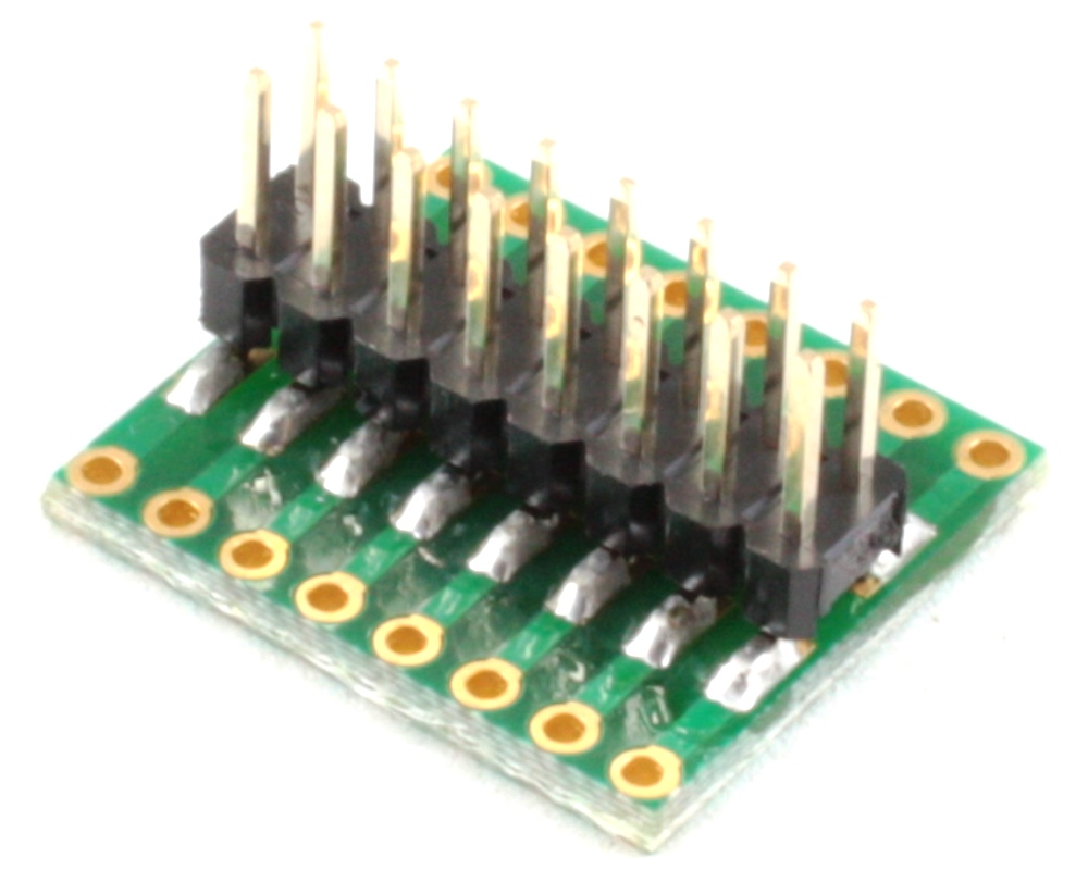Dual Row 1.27mm Pitch 16-Pin to Dual Row 2.54mm Pitch Adapter 1