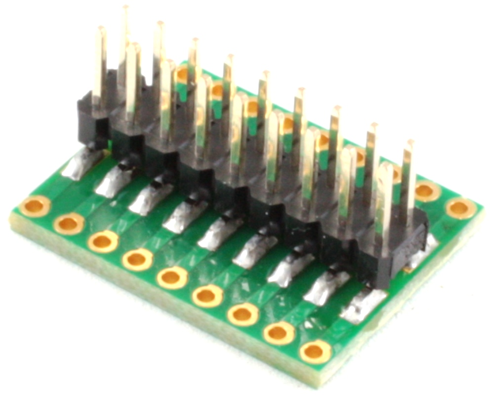 Dual Row 1.27mm Pitch 18-Pin to Dual Row 2.54mm Pitch Adapter 1