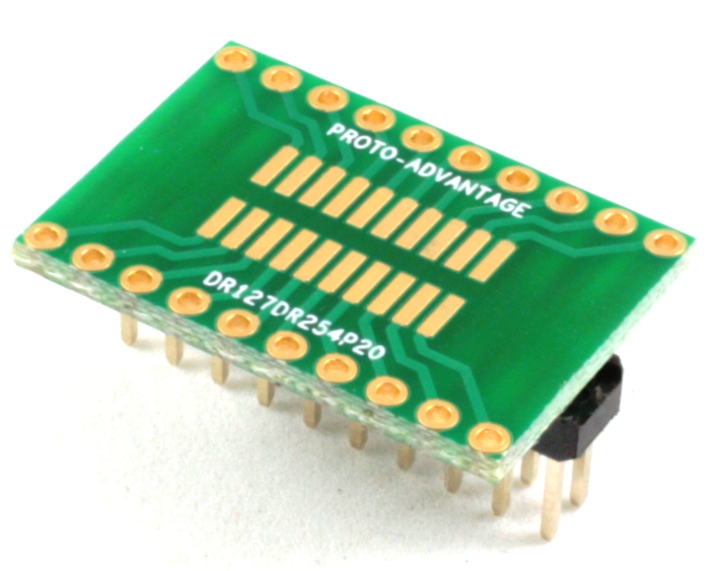 Dual Row 1.27mm Pitch 20-Pin to Dual Row 2.54mm Pitch Adapter 0