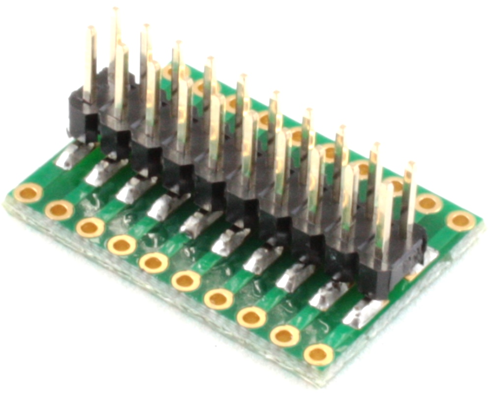Dual Row 1.27mm Pitch 20-Pin to Dual Row 2.54mm Pitch Adapter 1