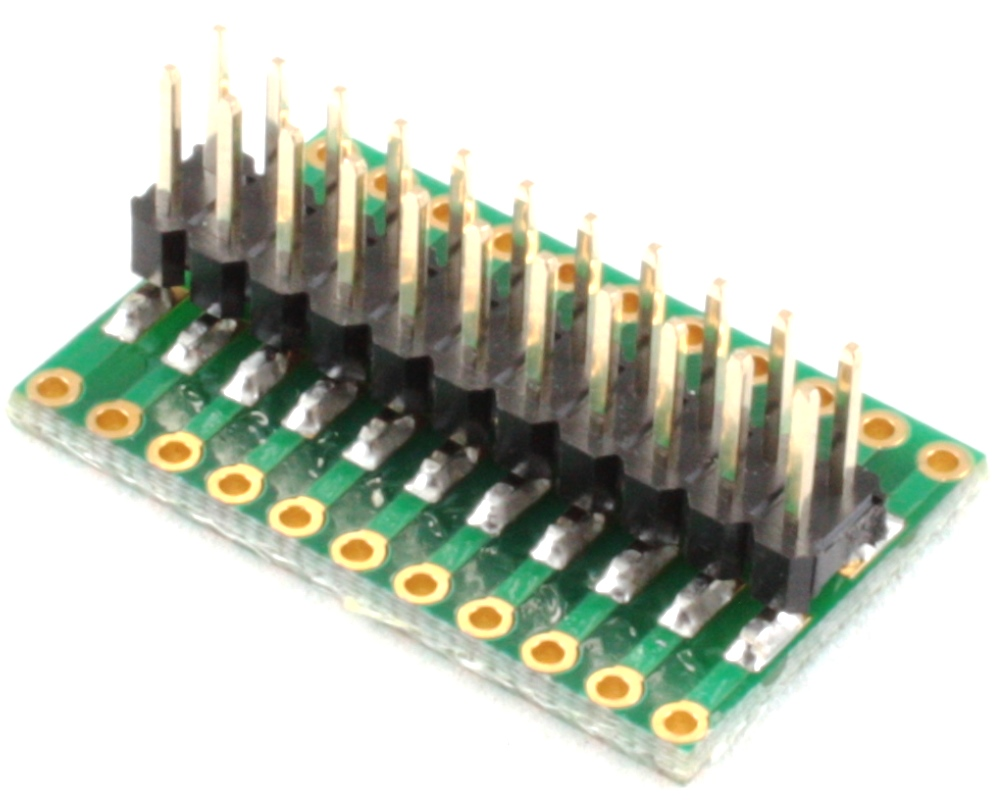 Dual Row 1.27mm Pitch 22-Pin to Dual Row 2.54mm Pitch Adapter 1