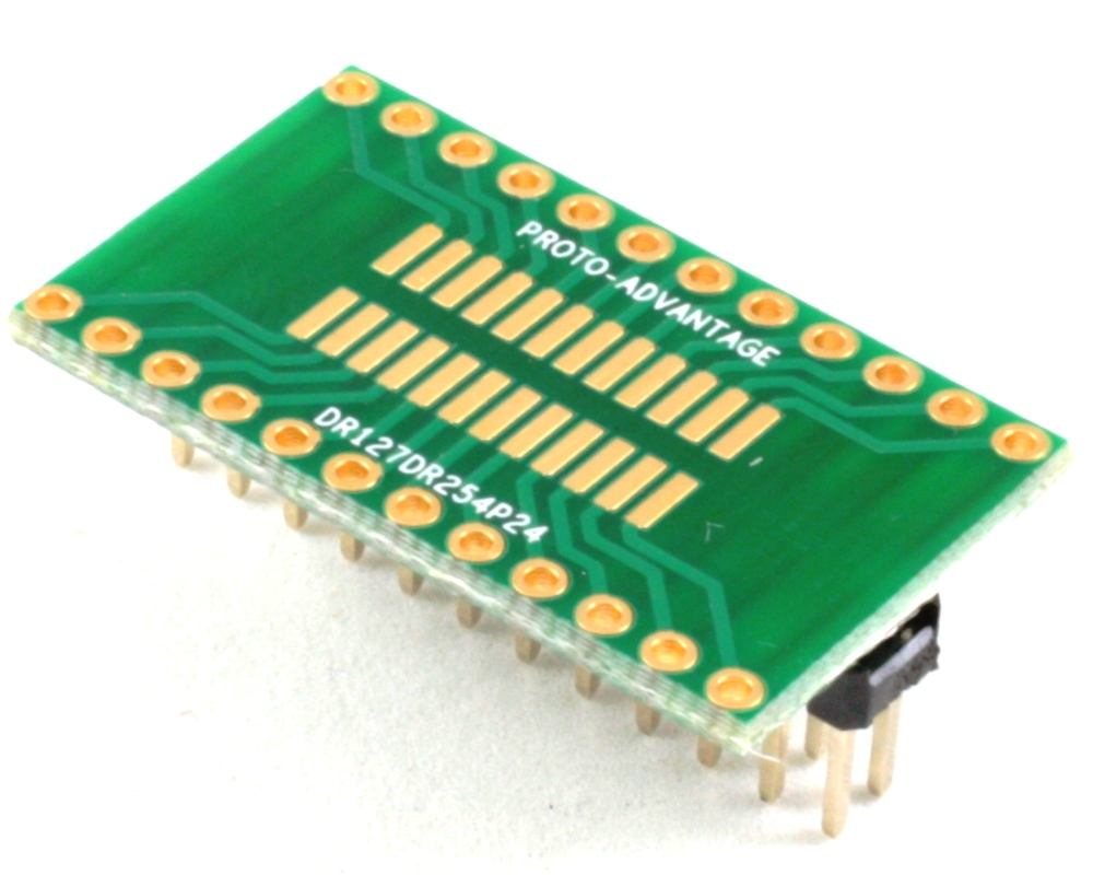 Dual Row 1.27mm Pitch 24-Pin to Dual Row 2.54mm Pitch Adapter 0