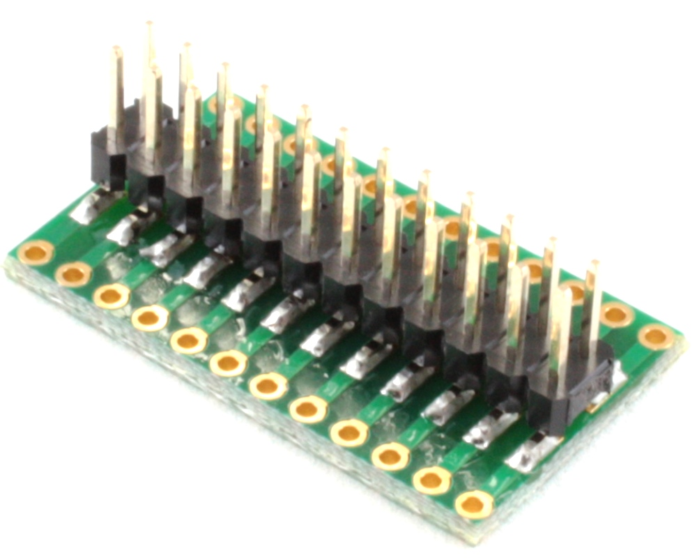 Dual Row 1.27mm Pitch 24-Pin to Dual Row 2.54mm Pitch Adapter 1