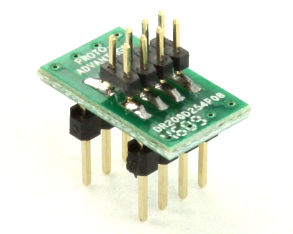 Dual Row 2.00mm Pitch  8-Pin Male Header to DIP-8 Adapter 0