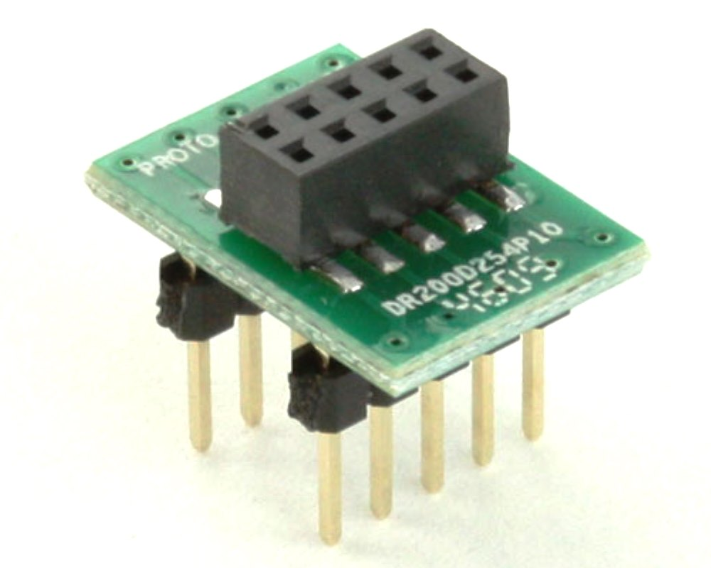 Dual Row 2.00mm Pitch 10-Pin Female Header to DIP-10 Adapter 0