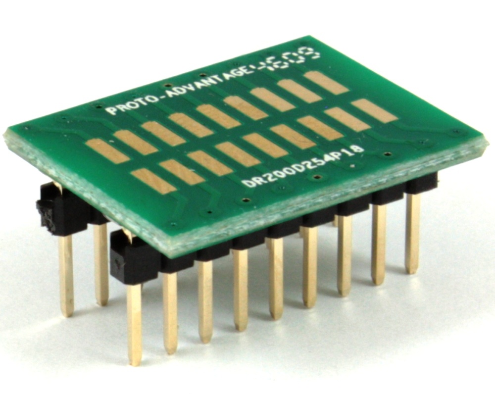 Dual Row 2.00mm Pitch 18-Pin to DIP-18 Adapter 0