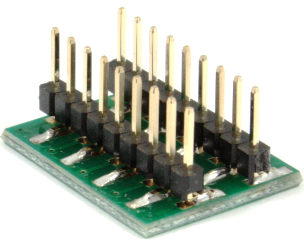Dual Row 2.00mm Pitch 18-Pin to DIP-18 Adapter 1