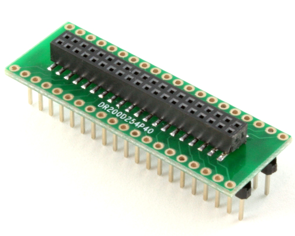 Dual Row 2.00mm Pitch 40-Pin Female Header to DIP-40 Adapter 0