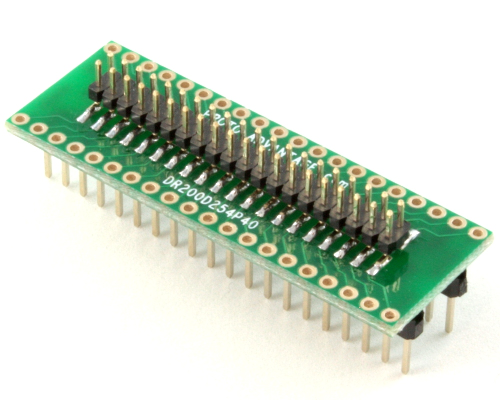 Dual Row 2.00mm Pitch 40-Pin Male Header to DIP-40 Adapter 0