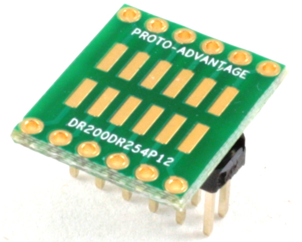 Dual Row 2.00mm Pitch 12-Pin to Dual Row 2.54mm Pitch Adapter 0