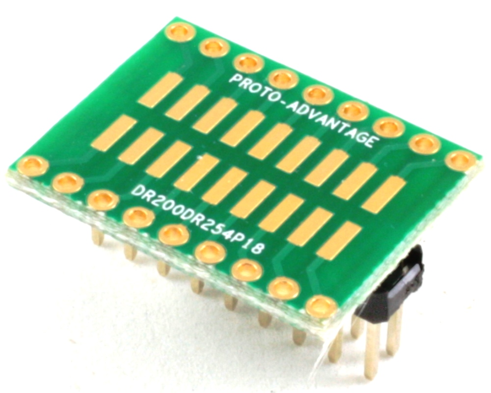 Dual Row 2.00mm Pitch 18-Pin to Dual Row 2.54mm Pitch Adapter 0