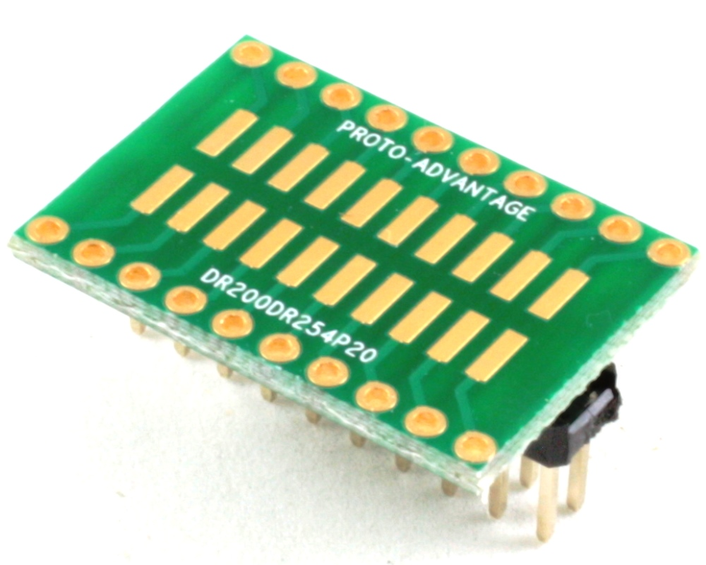Dual Row 2.00mm Pitch 20-Pin to Dual Row 2.54mm Pitch Adapter 0